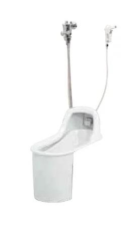 【最安値挑戦中!最大34倍】簡易水洗便器 ネポン ATJ-309G プリティーナ 和式 フラッシュバルブ パンタロン方式 ホワイト [♪■] 【関東限定】