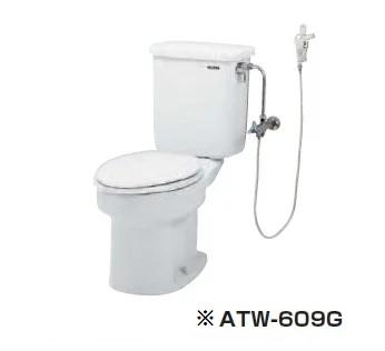 【最安値挑戦中!最大34倍】簡易水洗便器 ネポン ATW-609BG プリティーナ レギュラーサイズ 便座・手洗栓なし オートフラッパー ホワイト [♪■ 関東限定]