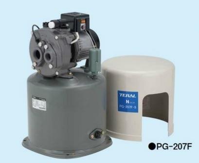 【最安値挑戦中!最大24倍】深井戸用圧力タンク式ポンプ(60Hz) テラル PG-207F-6 単相100V 200W 自動式 ジェット付属
