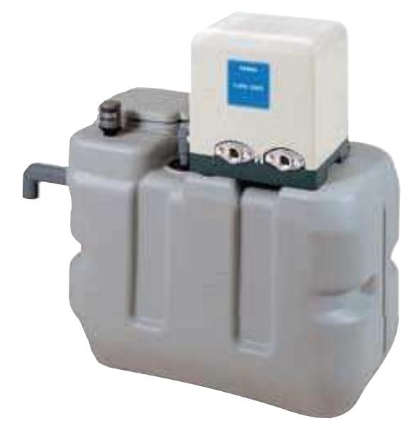 【最安値挑戦中!最大25倍】テラル RMB1-25THP6-206S 受水槽付水道加圧装置(受水槽RMB形+ポンプTHP6形) 100L 単相100V (60Hz用) [♪◇]