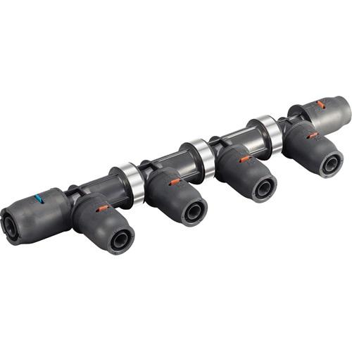 【最安値挑戦中!最大25倍】水栓金具 三栄水栓 3DJ-P-HDT-8P 配管用品 樹脂ヘッダー(末端チーズ) [□]