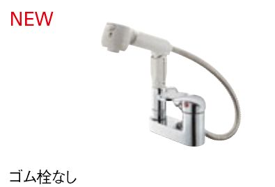 【最安値挑戦中!最大25倍】水栓金具 三栄水栓 K37100K-13 シングルスプレー混合栓(洗髪用) 寒冷地用 [□]