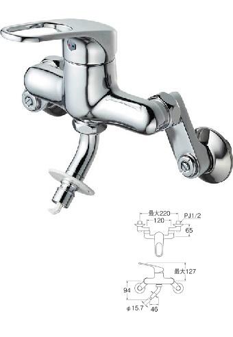 【最安値挑戦中!最大24倍】水栓金具 三栄水栓 K1700TV-13 シングル洗濯機用混合栓 壁付シングルレバー式 [□]