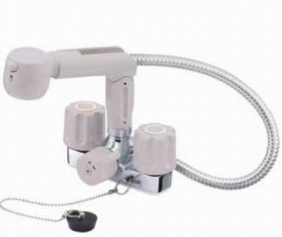 【最安値挑戦中!最大25倍】水栓金具 三栄水栓 K3104VR-LH-13 ツーバルブスプレー混合栓(洗髪用) [□]