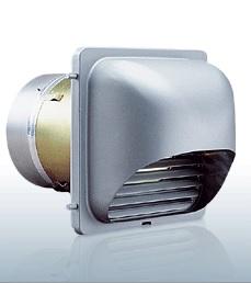 【最安値挑戦中!最大24倍】西邦工業 KFXDC100C 外壁用アルミ製換気口 逆風防止・防火ダンパー付 角型ガラリ型 [♪■]