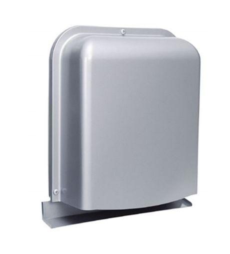 【最安値挑戦中!最大25倍】換気口 西邦工業 GFXD200GSC 外壁用ステンレス製換気口 深型フード ワイド水切り付 薄型 [♪■]