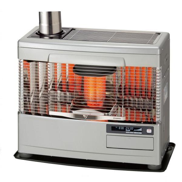 【最安値挑戦中!最大25倍】サンポット 石油暖房機 KSH-7031KC R(SG) 煙突式 カベック シルバーグレー [♪■]