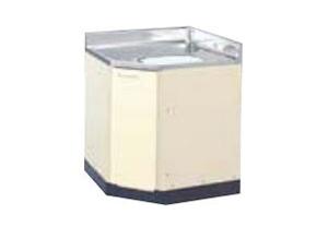 サンウェーブ HRH2C-75 セクショナルキッチン HR2シリーズ 調理台 コーナー用調理台 間口75×75cm シェルグレー [♪凹]