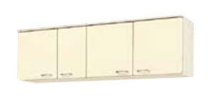 サンウェーブ HRH2A-165 セクショナルキッチン HR2シリーズ 吊戸棚(高さ50cm) 間口165cm シェルグレー [♪凹]