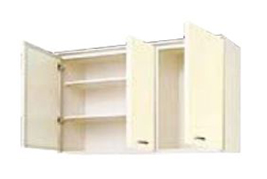 サンウェーブ HRH2AM-120 セクショナルキッチン HR2シリーズ 吊戸棚(高さ70cm) 間口120cm シェルグレー [♪凹]