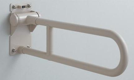 【最安値挑戦中!最大25倍】トイレ用手すり TOTO T112H8R 腰掛便器用 可動式 はね上げタイプ 長さ:800mm [■]