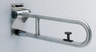 【最安値挑戦中!最大34倍】トイレ用手すり TOTO T113HK8R 腰掛便器用 可動式 はね上げタイプ ロック付 ステンレス 長さ:800mm [■]