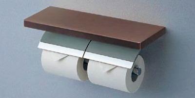 【最安値挑戦中!最大34倍】トイレ関連 TOTO YH63BKS 棚付二連紙巻器 めっきタイプ 芯棒可動タイプ メタル製(棚 天然木製) [■]