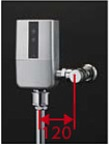 【最安値挑戦中!最大34倍】TOTO TEVN40MWH 大便器便器自動洗浄システム オートクリーンC(露出タイプ) 壁給水 再生水仕様 受注生産品 [■§]