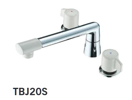 【最安値挑戦中!最大34倍】水栓金具 TOTO TBJ20S 浴室 2ハンドルバス水栓 台付きタイプ ニューウェーブシリーズ 一般地・寒冷地共用 [■]