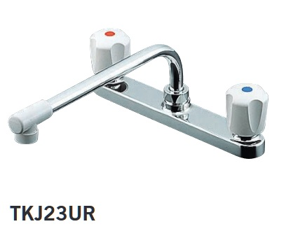 【最安値挑戦中!最大25倍】水栓金具 TOTO TKJ23UR キッチン用 2ハンドル混合栓一般地・寒冷地共用 [■]