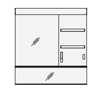 【最安値挑戦中!最大24倍】クリナップ ミラーキャビネット M-101AM▲C Tiarisティアリス 間口100cm 1面鏡(R/L) 直管LED 奥行12cm 高さ106cm [♪△]