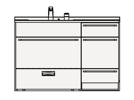 【最安値挑戦中!最大24倍】クリナップ 洗面化粧台 BAML12CNMC Tiarisティアリス 間口120cm ステップコンテナタイプ(R/L) スタンダードレールH80cm 高さ84cm [♪△]