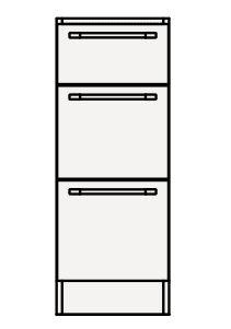 【最安値挑戦中!最大24倍】クリナップ トールキャビネット(下台) AMTFH30B Tiarisティアリス 間口30cm 引出しタイプ スタンダードレールH85cm 奥行59cm 高さ84cm [♪△]