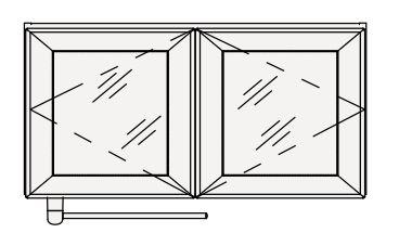 【coordiroom】クリナップ 洗濯機用ミドルキャビネット SRM90S S(エス) 間口90cm シースルー扉 奥行27cm 高さ45cm [♪△]