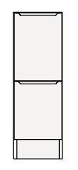 【最安値挑戦中!最大25倍】クリナップ トールキャビネット(下台) SRTFH25BS S(エス) 間口25cm 引出しタイプ ハイグレード 奥行55cm 高さ82.5cm [♪△]