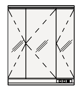 【coordiroom】クリナップ ミラーキャビネット M-753NFNE FANCIO(ファンシオ) 間口75cm 3面鏡 LED 奥行19.4cm 高さ90cm [♪△]