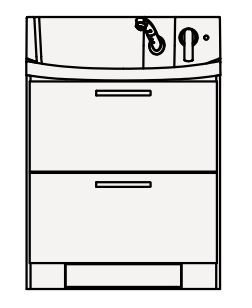【coordiroom】クリナップ 洗面化粧台 BNFL75KHMCW FANCIO(ファンシオ) 間口75cm オールスライドタイプ(体重計収納付) スタンダード 奥行57.5cm 高さ105cm[♪△]