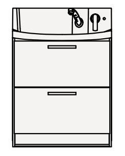 【coordiroom】クリナップ 洗面化粧台 BNFL75FHMCW FANCIO(ファンシオ) 間口75cm オールスライドタイプ スタンダード 奥行57.5cm 高さ105cm [♪△]