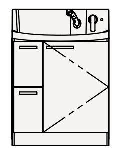 【coordiroom】クリナップ 洗面化粧台 BNFL752HMCW FANCIO(ファンシオ) 間口75cm 引出しタイプ スタンダード 奥行57.5cm 高さ105cm [♪△]