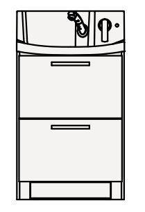 【最安値挑戦中!最大34倍】クリナップ 洗面化粧台 BNFH60KHMCW FANCIO(ファンシオ) 間口60cm オールスライドタイプ(体重計収納付) スタンダード 奥行57.5cm 高さ105cm[♪△]