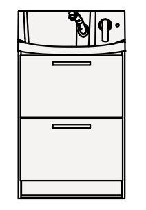 【最安値挑戦中!最大25倍】クリナップ 洗面化粧台 BNFL60FHMCW FANCIO(ファンシオ) 間口60cm オールスライドタイプ スタンダード 奥行57.5cm 高さ100cm [♪△]