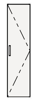 【coordiroom】クリナップ トールキャビネット(上台) NFTU30 FANCIO(ファンシオ) 間口30cm 扉タイプ(R・L) スタンダード 奥行55cm 高さ112.5cm [♪△]