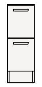 【coordiroom】クリナップ トールキャビネット(下台) NFTFH25BH FANCIO(ファンシオ) 間口25cm 引出しタイプ スタンダード 奥行55cm 高さ82.5cm [♪△]