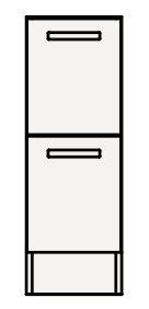 【coordiroom】クリナップ トールキャビネット(下台) NFTFL25BH FANCIO(ファンシオ) 間口25cm 引出しタイプ スタンダード 奥行55cm 高さ82.5cm [♪△]