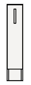 【coordiroom】クリナップ トールキャビネット(下台) NFTFL15KN FANCIO(ファンシオ) 間口15cm 片面引出しタイプ スタンダード 奥行55cm 高さ82.5cm [♪△]