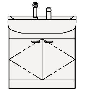 【最安値挑戦中!最大25倍】クリナップ 洗面化粧台 BTS75W-W BTSシリーズ 間口75cm 開きタイプ ツインハンドル水栓 奥行56cm 高さ79cm [♪△]