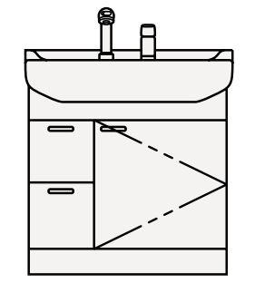 【coordiroom】クリナップ 洗面化粧台 BTS752NY-W BTSシリーズ 間口75cm 引出しタイプ シャワー付シングルレバー水栓 奥行56cm 高さ79cm [♪△]