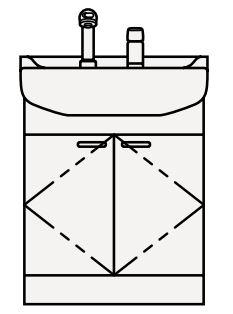 【最安値挑戦中!最大25倍】クリナップ 洗面化粧台 BTS60S-W BTSシリーズ 間口60cm 開きタイプ シングルレバー水栓 奥行56cm 高さ79cm [♪△]