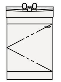 【最安値挑戦中!最大25倍】クリナップ 洗面化粧台 BTS50W-W BTSシリーズ 間口50cm 開きタイプ ツインハンドル水栓 奥行40cm 高さ78cm [♪△]