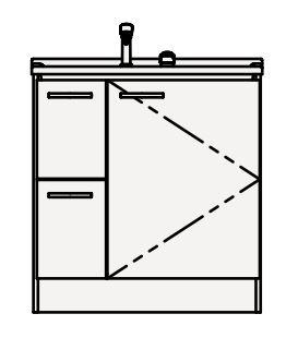 【最大44倍スーパーセール】クリナップ 洗面化粧台 BGAL752HMKW BGAシリーズ 間口75cm 引出しタイプ シャワー付シングルレバー水栓 スタンダード 奥行50cm 高さ82.5cm [♪▲]