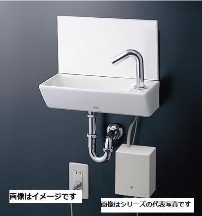 【最安値挑戦中!最大25倍】TOTO 手洗器 LSE40AAPZ 壁掛手洗器角型セット 台付自動水栓(単水栓 AC100V) 壁排水金具(25mm Pトラップ) 壁給水[♪■]