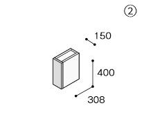 【最安値挑戦中!最大34倍】シャンピーヌ ノーリツ LSCU-150L(R)DO オプションキャビネットサイドアッパー 間口:150mm グロスホワイト [♪■]