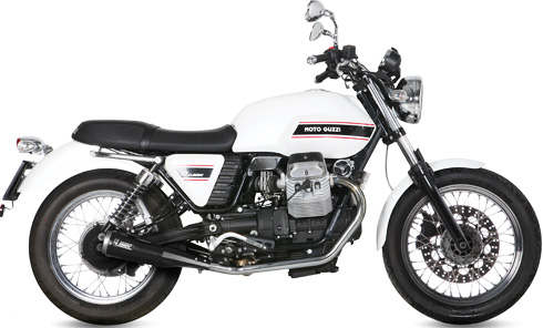 MOTO GUCCI V7 CLASSIC / V7 SPECIAL 08-【MIVV】(ミヴ) GHIBLI ステンレス スリップオンサイレンサー TWIN