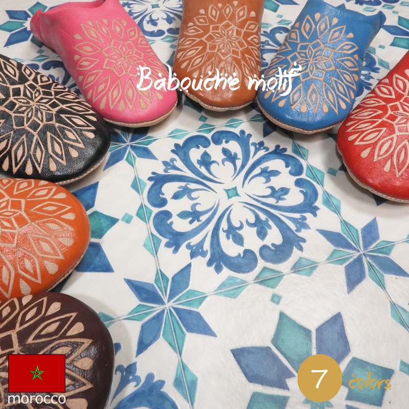 Very cheap!  : Birthday gifts housewarming ★ ★ ethnic Morocco Babouche  slippers gadgets room shoes women's fashionable visitor pattern blue