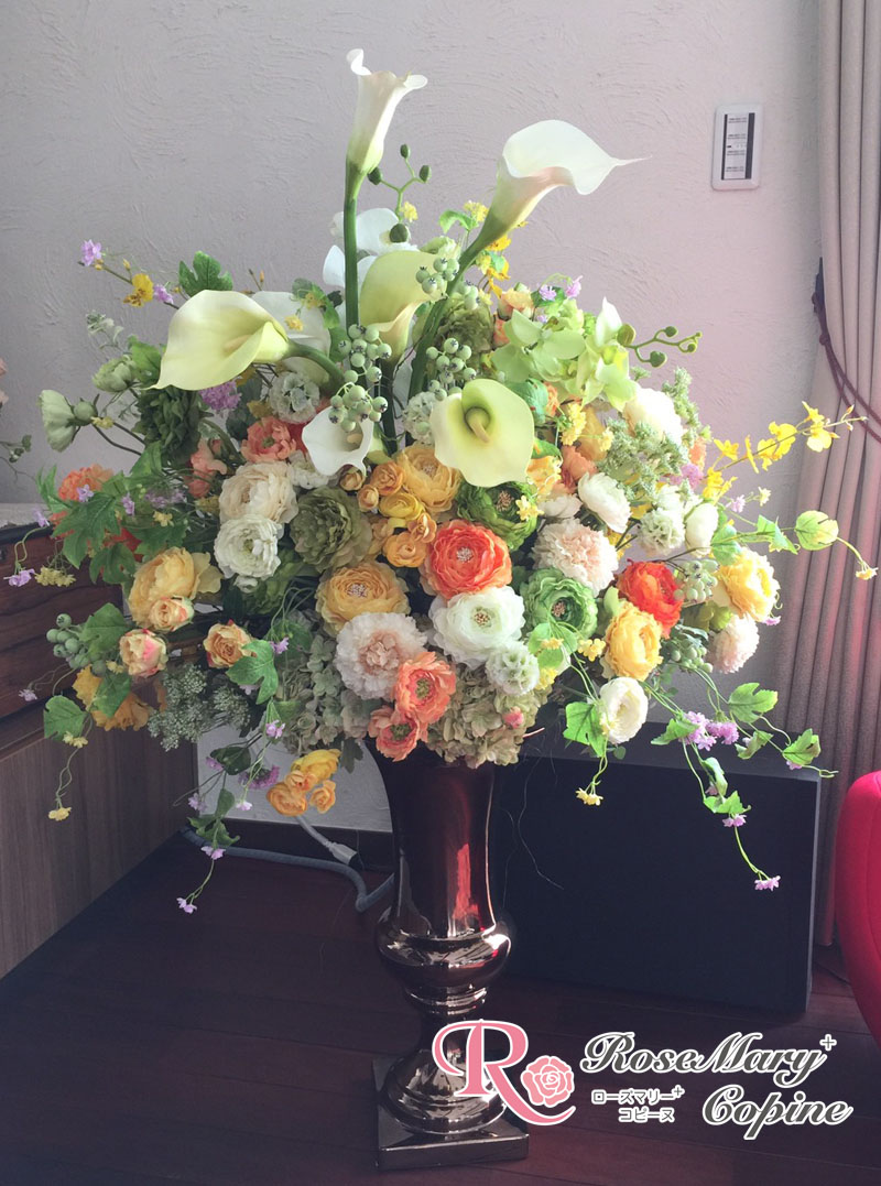 高級造花 アーティフィシャルフラワー アーティシャルフラワー お祝い 新築祝い 開店祝い ギフト プレゼント オーダー
