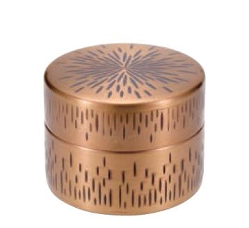 縦目茶筒 中 銅 黄金被き仕上げ COPPER100 新光金属 新光堂 送料無料 オープニング 大放出セール 正規店