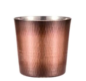 手打ちロックカップ 銅 純銅鎚目ロックカップ 新光堂 COPPER100 新光金属