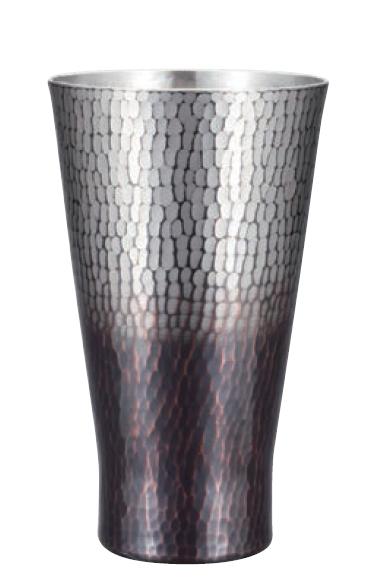 手打ちタンブラー 大人気 小 銅 錫 黒被仕上げ 新光金属 純銅鎚目タンブラー 最安値 新光堂 COPPER100