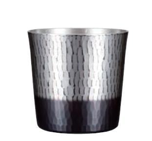 手打ちロックカップ 銅 錫/黒被仕上げ 純銅鎚目ロックカップ 新光堂 COPPER100 新光金属