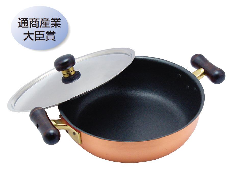 ●純銅製 フライパン万能鍋 26cm 【送料無料】【楽ギフ_メッセ入力】